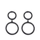 Imitated crystalCZ Simple Geometric earring  black  Fashion Jewelry NHAS0507black