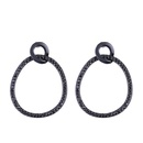 Imitated crystalCZ Simple Geometric earring  black  Fashion Jewelry NHAS0508black