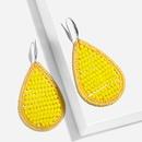 Alloy Fashion bolso cesta earring  yellow  Fashion Jewelry NHAS0520yellow