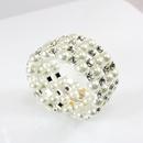 Alloy Korea Geometric bracelet  white  Fashion Jewelry NHAS0565white