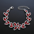 Imitated crystalCZ Fashion Geometric bracelet  red  Fashion Jewelry NHAS0587red