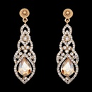 Imitated crystalCZ Fashion Tassel earring  red  Fashion Jewelry NHAS0592red
