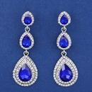 Imitated crystalCZ Fashion Geometric earring  red  Fashion Jewelry NHAS0598red