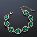 Imitated crystalCZ Fashion Geometric bracelet  Alloy  Fashion Jewelry NHAS0606Alloy