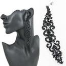 Alloy Fashion Tassel earring  black  Fashion Jewelry NHAS0616black