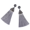 Cloth Bohemia Tassel earring  red  Fashion Jewelry NHAS0621red