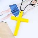 Alloy Vintage Cross necklace  red  Fashion Jewelry NHAS0625red