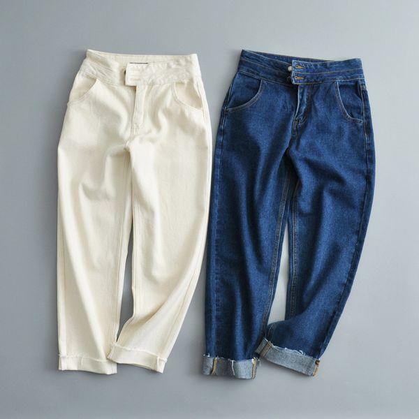 Cotton Fashion  pants  (White-S)  Women Clothing NHAM7360-White-S