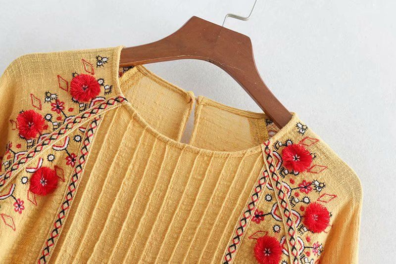 Cotton Fashion  coat  (yellow-L)  Women Clothing NHAM7363-yellow-L