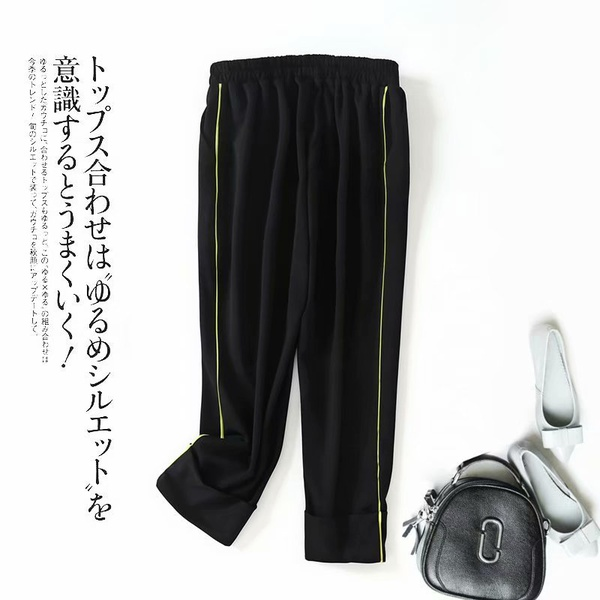 Cotton Fashion  pants  (black-M)  Women Clothing NHAM7376-black-M