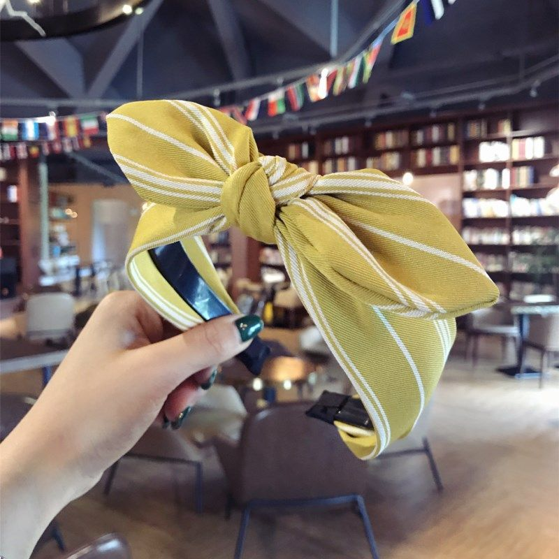 Cloth Simple Bows Hair accessories  (yellow)  Fashion Jewelry NHSM0165-yellow