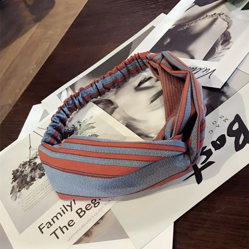 Cloth Simple Bows Hair accessories  (Striped tangerine)  Fashion Jewelry NHSM0174-Striped-tangerine