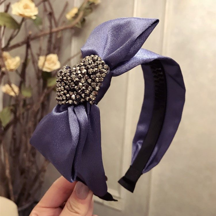 Cloth Simple Bows Hair accessories  purple  Fashion Jewelry NHSM0222purple