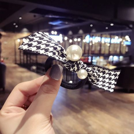 Beads Simple Bows Hair accessories  (Houndstooth)  Fashion Jewelry NHSM0230-Houndstooth's discount tags