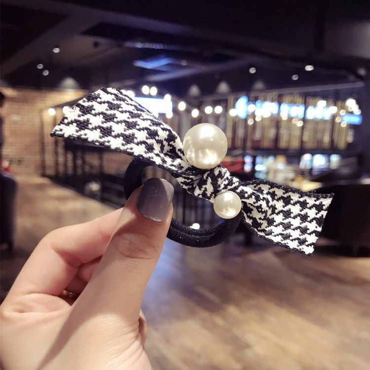 Beads Simple Bows Hair accessories  (Houndstooth)  Fashion Jewelry NHSM0230-Houndstooth