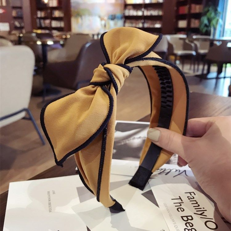 Cloth Simple Bows Hair accessories  (yellow)  Fashion Jewelry NHSM0260-yellow