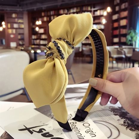 Cloth Korea Bows Hair accessories  (yellow)  Fashion Jewelry NHSM0261-yellow's discount tags
