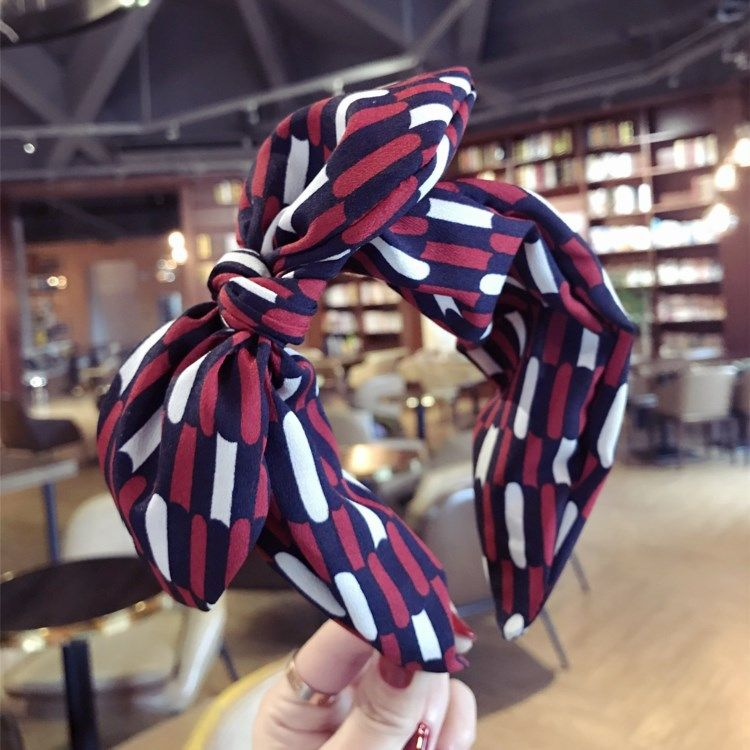 Cloth Simple Bows Hair accessories  (Plaid red)  Fashion Jewelry NHSM0277-Plaid-red