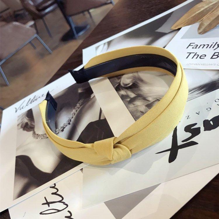 Cloth Korea Bows Hair accessories  (yellow)  Fashion Jewelry NHSM0331-yellow