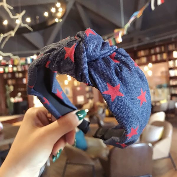 Cloth Simple Bows Hair accessories  (Red star)  Fashion Jewelry NHSM0346-Red-star
