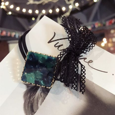 Plastic Korea Bows Hair accessories  (Square green)  Fashion Jewelry NHSM0349-Square-green's discount tags