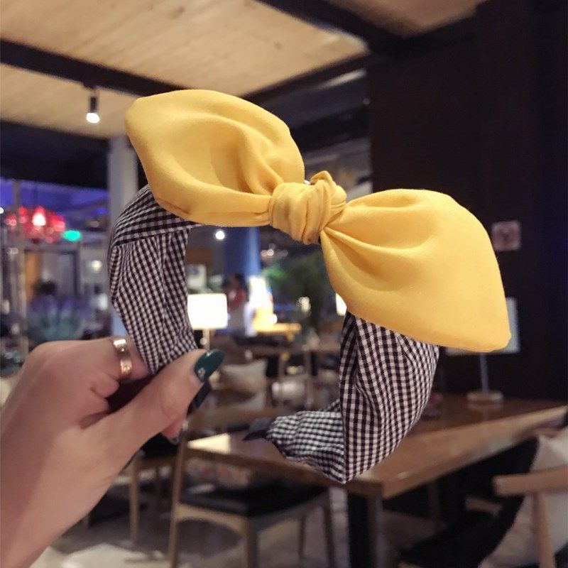 Cloth Simple Bows Hair accessories  yellow  Fashion Jewelry NHSM0359yellow