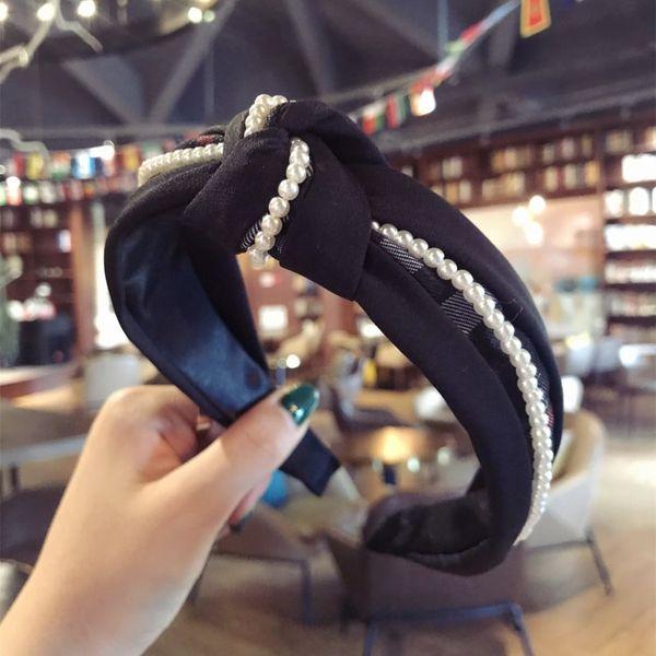 Cloth Simple  Hair accessories  (black)  Fashion Jewelry NHSM0363-black