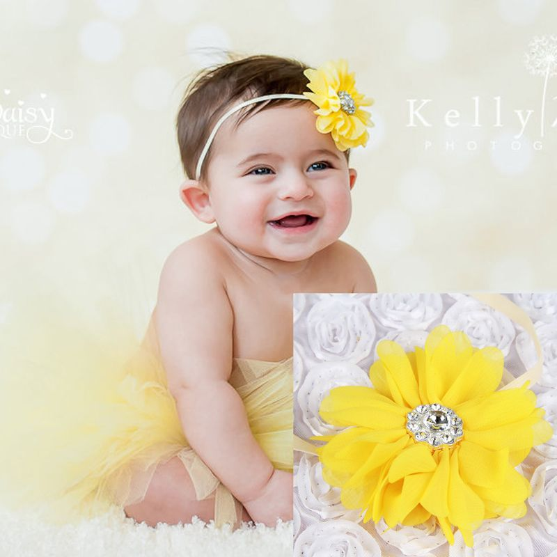 Cloth Korea Flowers Hair accessories  yellow  Fashion Jewelry NHWO0599yellow