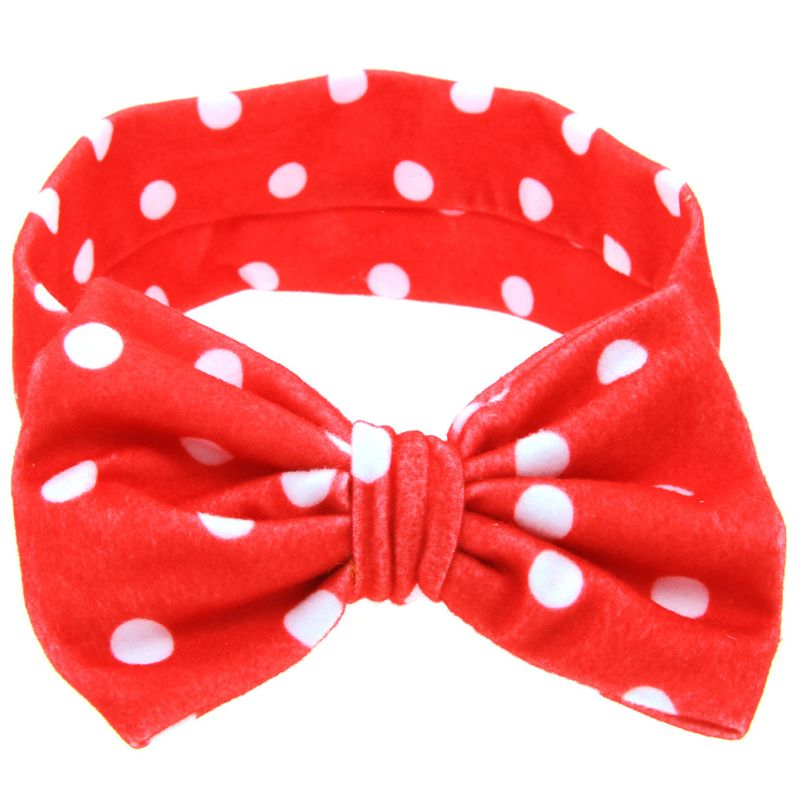 Cloth Fashion Geometric Hair accessories  (Red and white)  Fashion Jewelry NHWO0621-Red-and-white