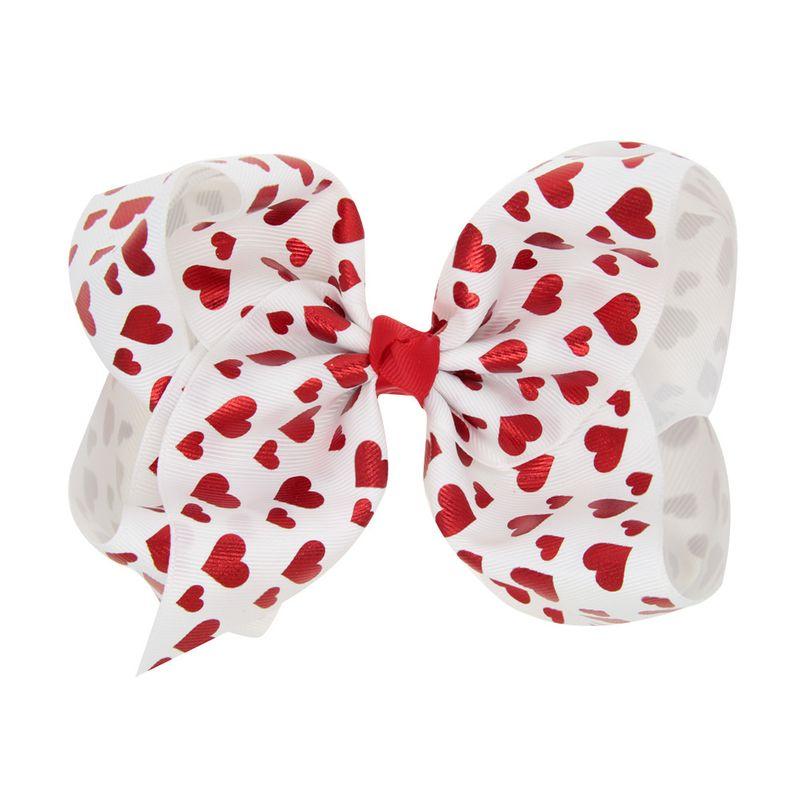 Cloth Fashion Geometric Hair accessories  (White love)  Fashion Jewelry NHWO0625-White-love