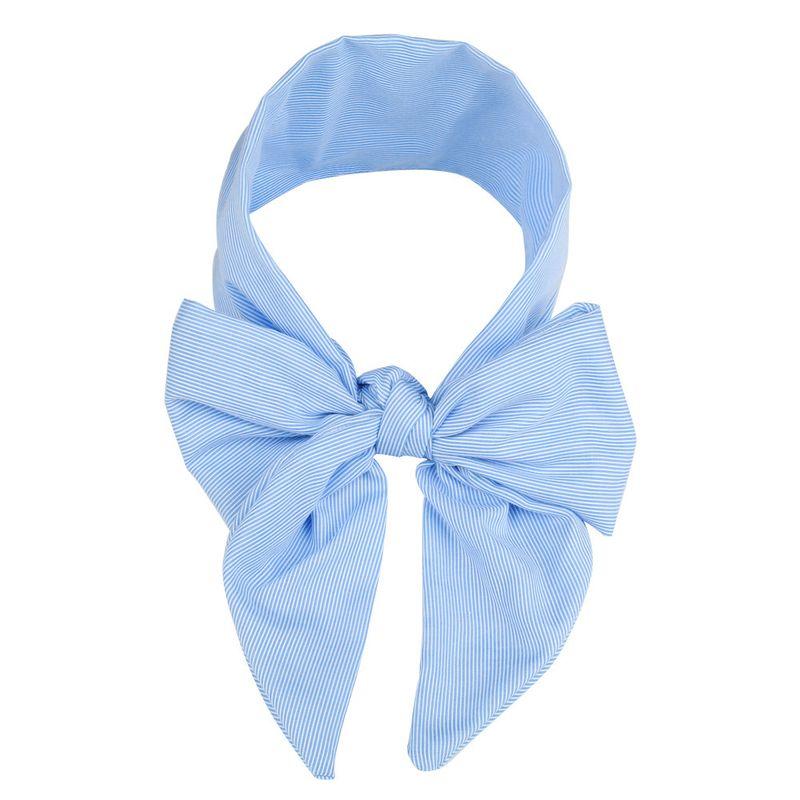 Cloth Fashion Bows Hair accessories  blue stripes  Fashion Jewelry NHWO0626bluestripes