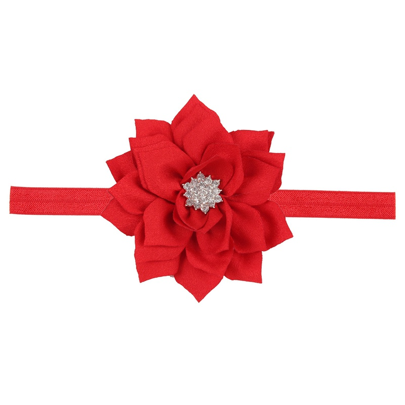 Cloth Fashion Flowers Hair accessories  (red)  Fashion Jewelry NHWO0651-red