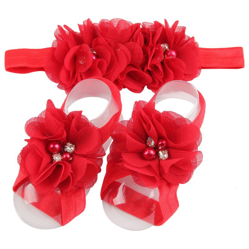 Cloth Fashion Flowers Hair accessories  (red)  Fashion Jewelry NHWO0656-red