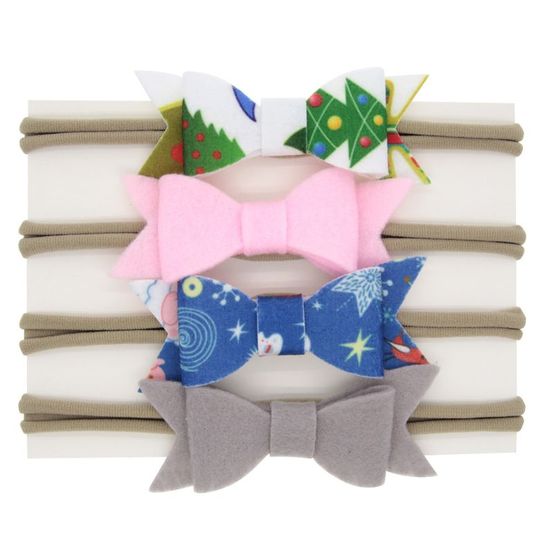 Cloth Fashion Bows Hair accessories  4color mixing  Fashion Jewelry NHWO06824colormixing