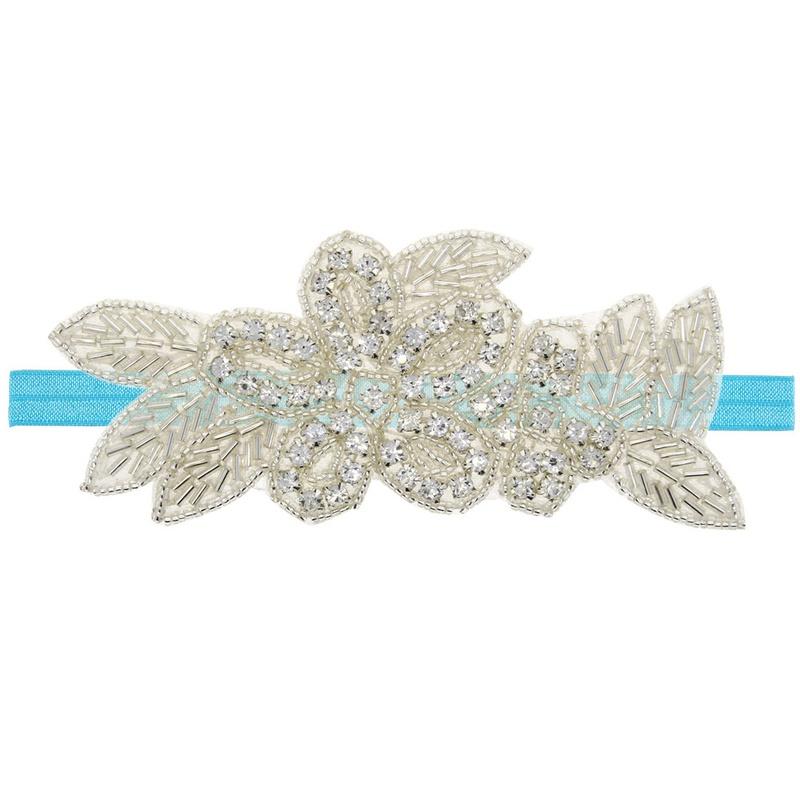 Imitated crystal&CZ Fashion Flowers Hair accessories  (blue)  Fashion Jewelry NHWO0708-blue