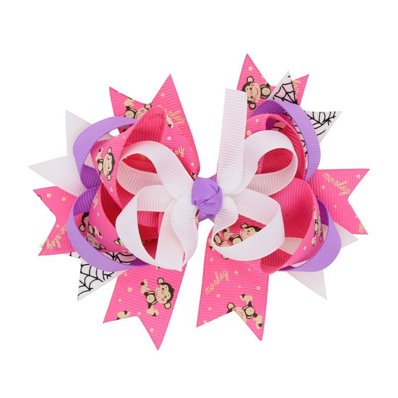 Alloy Fashion Bows Hair accessories  (Deep pink monkey)  Fashion Jewelry NHWO0719-Deep-pink-monkey