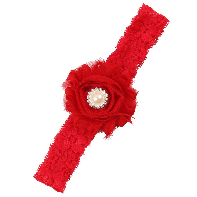 Cloth Fashion Flowers Hair accessories  red  Fashion Jewelry NHWO0730red