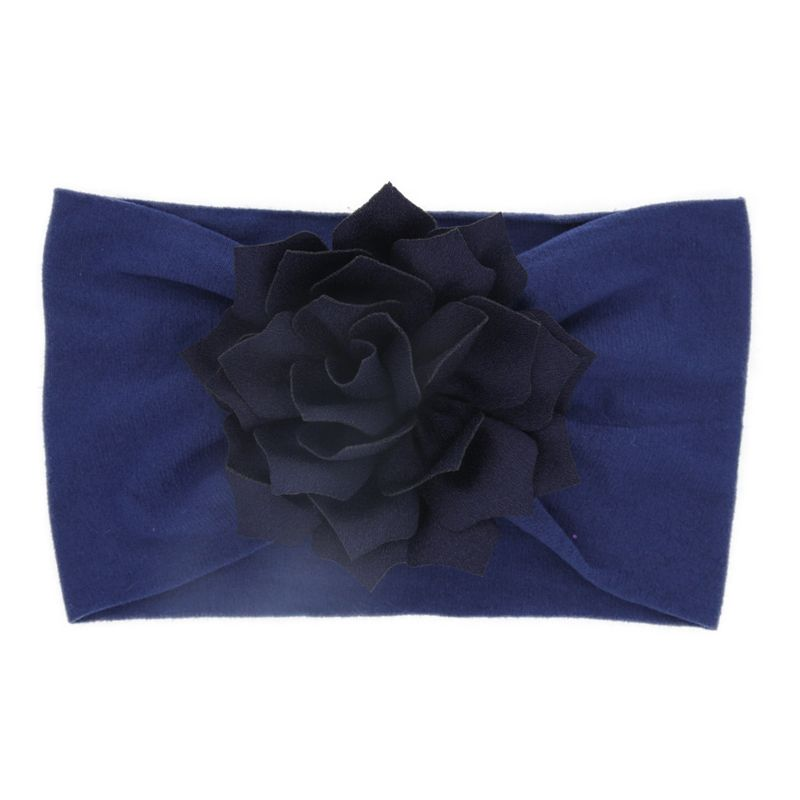 Cloth Fashion Geometric Hair accessories  (Navy blue lotus leaf)  Fashion Jewelry NHWO0743-Navy-blue-lotus-leaf