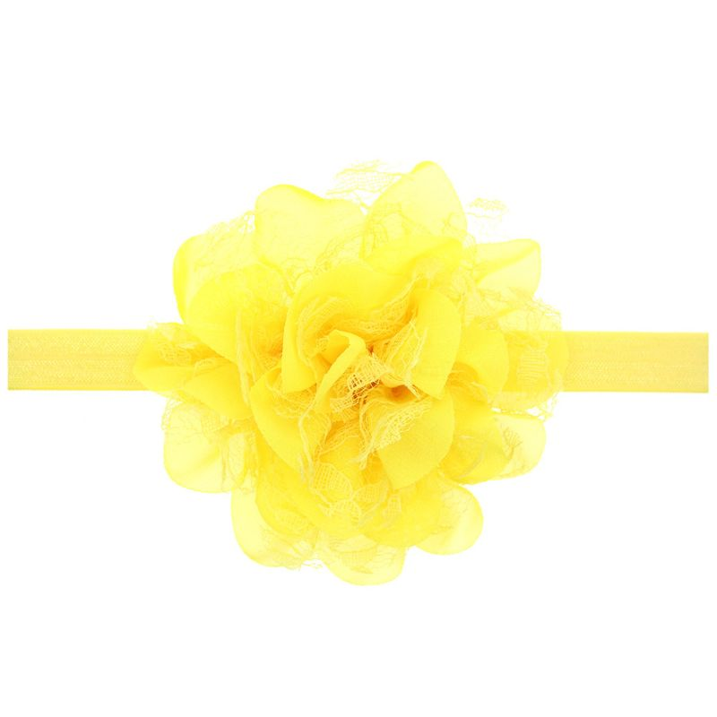Cloth Fashion Flowers Hair accessories  yellow  Fashion Jewelry NHWO0746yellow