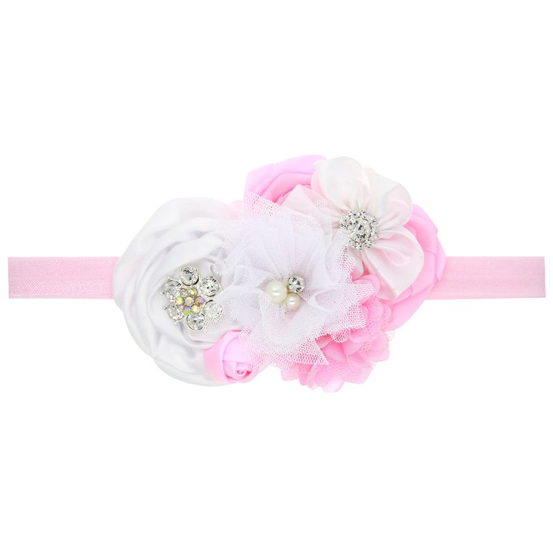 Cloth Fashion Flowers Hair accessories  White pink  Fashion Jewelry NHWO0754Whitepink