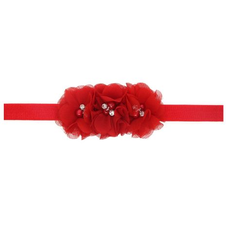 Cloth Fashion Flowers Hair accessories  (red)  Fashion Jewelry NHWO0756-red's discount tags