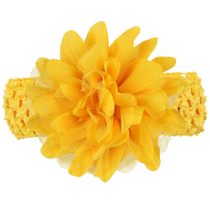 Cloth Fashion Flowers Hair accessories  (yellow)  Fashion Jewelry NHWO0774-yellow