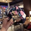 Cloth Simple Bows Hair accessories  Floral purple  Fashion Jewelry NHSM0178Floralpurple