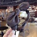Cloth Simple Bows Hair accessories  Black and white grid  Fashion Jewelry NHSM0255Blackandwhitegrid