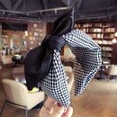 Cloth Korea Bows Hair accessories  Black and white grid  Fashion Jewelry NHSM0275Blackandwhitegrid