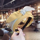 Cloth Simple Bows Hair accessories  yellow  Fashion Jewelry NHSM0309yellow