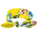 Cloth Fashion Flowers Hair accessories  yellow  Fashion Jewelry NHWO0755yellow