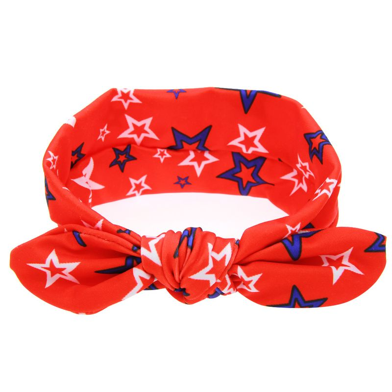 Cloth Fashion Geometric Hair accessories  (Red and blue stars)  Fashion Jewelry NHWO0797-Red-and-blue-stars
