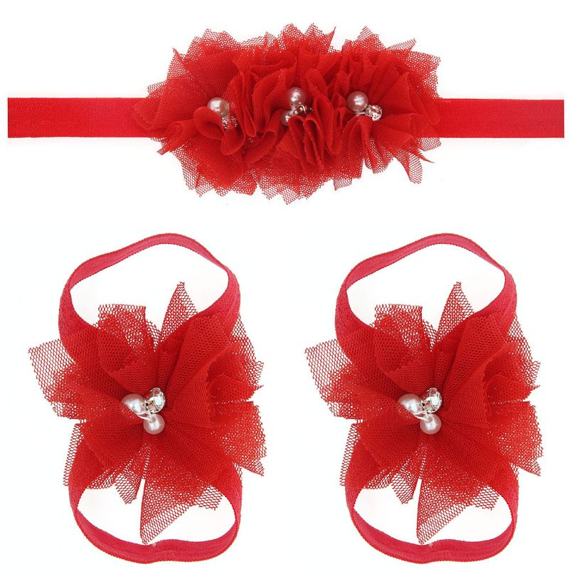 Cloth Fashion Flowers Hair accessories  (red)  Fashion Jewelry NHWO0801-red