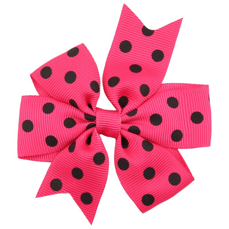 Cloth Fashion Bows Hair accessories  Rose red dot  Fashion Jewelry NHWO0809Rosereddot
